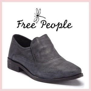 NWT Free People Gray Leather Shootie Boot Shoe 8 9